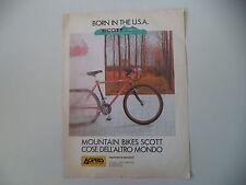 advertising Pubblicità 1989 BICICLETTA MOUNTAIN BIKES SCOTT