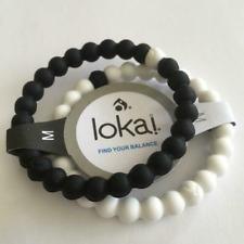Lokai Black & White Bracelet Set - Large - Medium