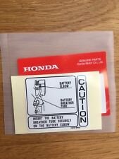 Genuine Honda Z50J Battery Caution Decal Z50 ST70 Monkey Bike Dax Z50m