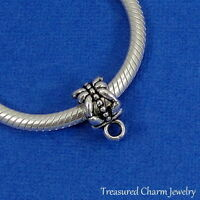 Silver Plated European Dangle Charm Adapter Bead - Bail - Charm Holder