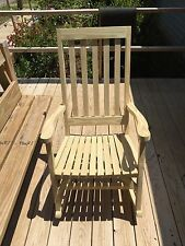 New homemade light brown adult rocking chair