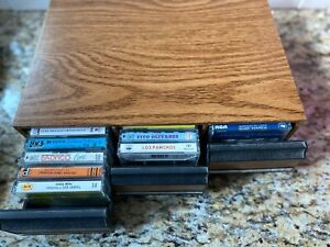 LOT OF 30 RARE MEXICAN CASSETTE TAPES IN NICE FAUX WOOD CASE. TEJANO, NORTENA