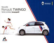 Catalogue brochure publicite prospectus RENAULT TWINGO série limitée COQ SPORTIF