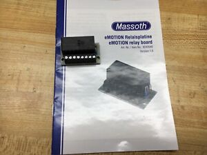 Massoth 8242040 eMotion Relay Board is Switching Amplifier w/ two 8 amps outputs