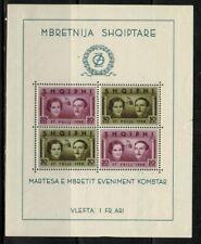 Albania #289 Sheet of 4 1938 MNH