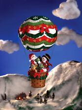 Bucilla Up, Up & Away ~ 3D Felt Hanging Decor Kit #86153 Santa, Frosty, Balloon