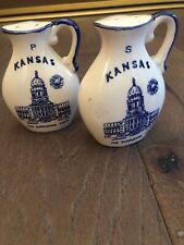 Vintage Salt And Pepper Shakers Made In Japan Left Handed Kansas