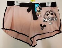 New Disney Mickey Mouse Pink Black Shorts Pyjama Loungewear Womens Primark