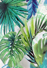 TROPICAL LEAVES WALL ART *  Large A3 SiZE QUALITY CANVAS  PRINT