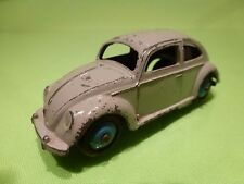 DINKY TOYS 181 VW VOLKSWAGEN BEETLE - GREY + BLUE WHEELS 1:43 - GOOD CONDITION
