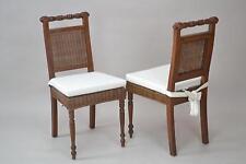 2 Rattanstühle inkl. Sitzkissen Esszimmerstuhl Stuhlgruppe Stuhl Stühle braun