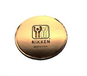 "NIKKEN Kenko Pad MAX Round Gold 3.5"" New~"