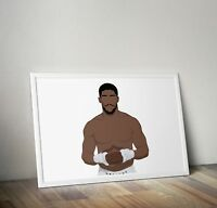 Anthony Joshua, Boxing, poster, print, gifts, wall art, home decor