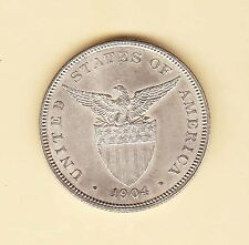 US Philippine FIFTY Centavos PROOF 50 cents 1904P  Uncirculated condition