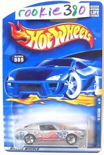 2001 Hot Wheels HIPPIE MOBILES #89 ∞ '68 MUSTANG ∞ SILVER 1968 FASTBACK PEACE