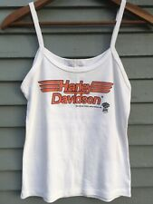Vintage HARLEY DAVIDSON Tank Top Women's White Medium Small Excellent 1983