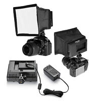 Neewer CN-160 LED Video Light Kit with Power Adapter Light Diffuser and Softbox