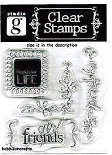 Hampton Art Studio G claro se aferran sellos-Sentimientos-Amigos-Novias