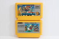Lot 2 Super Mario Bros 1 3 Brothers Nintendo FC Famicom NES Japan Import F2493 C
