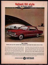 1964 Plymouth VALIANT Red 2-door Hardtop Classic Car Photo AD