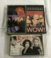 Bananarama Lot of 3 Cassettes True Confessions Wow Self Titled 80's Pop New Wave