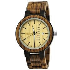 Holzwerk Germany® Herren Natur Holz Herrenuhr Armbanduhr Uhr Holzuhr Braun H9