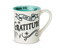 CUP OF GRATITUDE COFFEE MUG NEW 16OZ  ~ THANK YOU ~ by OUR NAME IS MUD