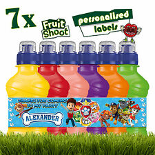 7 x Personalised Paw Patrol Fruit Shoot Stickers Bottle Labels Birthday Party