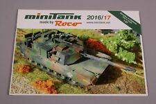 ZC3837 Roco 1/87 catalogue militaire minitank 2016 2017 30x21cm 60p GB D 81812