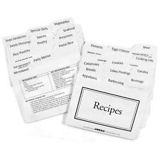 Labeleze Recipe Card Dividers 4 x 6