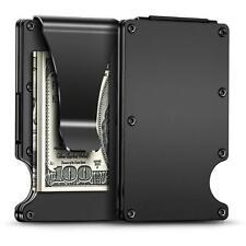 Men Aluminium RFID Blocking Slim Metal Money Clip Wallet Credit Card ID Holder