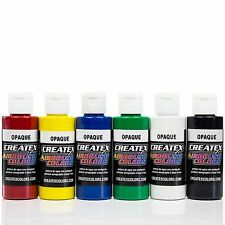 Createx Airbrush Farben Set 6x 60ml *Basis Opak Airbrushfarben Acrylfarben