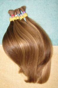 HUMAN HAIR FIVE BROWN - BLONDE PONYTAILS & BANGS ONE HAIRCUT REBORN DOLLS P63