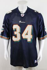 Reebok Ricky Williams Miami Dolphins Football Jersey Adult 2XL Blue NFL Mens