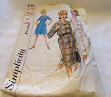 Vintage Original 60's  Ladies Dresses Simplicity Sewing Pattern Size 12 Cut