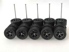 (NEW) Hot Wheels 5 Spoke (Dark Colors ) SAKURA Rubber Tire for JDM - 5 sets