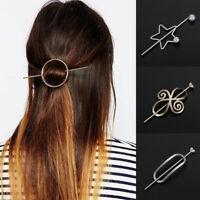 Geometric Hairpins Headpiece Metal Hair Clip Vintage Hair Clips Bun Holder
