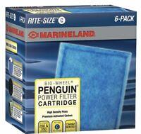 Penguin Marineland Bio-Wheel Power Filter Cartridge 6-Pack Rite Size C NIB