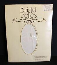 "Bridal Belles White Pantyhose ""Flocked Flur de Pearl "" By  Sz Med Sheer To Waist"