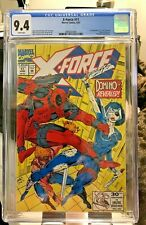 X-Force #11 CGC 9.4 Near Mint 1st Real Domino  Appearance 6/92 - WHITE PAGES