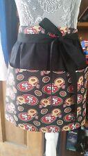 New Handmade Half Apron San Francisco 49ers Fabric Waitress Server Waist