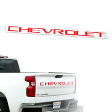 Red CHEVROLET Letters Tailgate Insert Emblem for 2019+ Silverado 1500 2500 3500