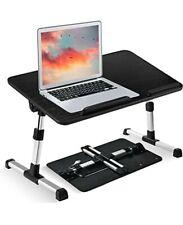 Ultra Large Adjustable Laptop Bed Table Desk, Portable Standing Foldable Breakfa