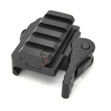 Quick Release Front Rear Sights Riser Mount for 21mm Rifle Weaver Rails