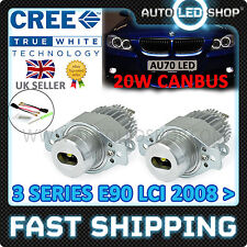 BMW 3 Series E91 08 & GT LCI CREE 20W A LED ANGEL EYE Halo LAMPADINE contrassegni