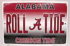 "Alabama Roll Tide Crimson Tide Aluminum Metal Sign Man Fan Cave 8""x 12"" Football"