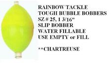 "TOUGH BUBBLE water-fillable SLIP BOBBERS 6 sz small 1 3/16"" Color: chartreuse"