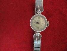Vintage 14K  White Gold Ladies Girard Perregaux  Wristwatch - Diamonds