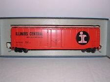 "KAR-LINE #343  Illinois Central ""Orange"" 50' Plug Door Box Car #11143 H.O. 1/87"