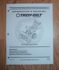 MTD TWO STAGE K L Q STYLES SNOW THROWERS OWNERS MANUAL W/ PARTS LIST